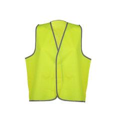Het Tricot van de Polyester van 100% met het Gele Vest van de Veiligheid van de Mensen van het Vest Weerspiegelende