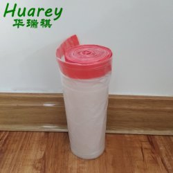 屑のドローストリングは世帯が付いている生物分解性のCompostableプラスチックごみ袋を結扱う