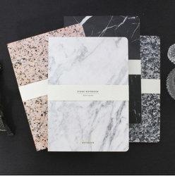Taccuino stampabile del taccuino di disegno di marmo su ordinazione del marmo