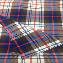 Tartan T/R de vérifier s'étirer le tissu du vêtement