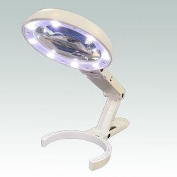 8 LED recargable USB Lupa plegable portátiles