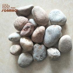 Suelos de exterior de piedra de piedritas de colores decorativos