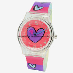 십대 동안 2018의 최신 판매 선물 시계 형식 플라스틱 시계