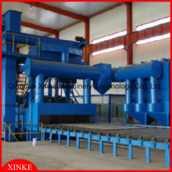 Hohe Effeciency Tunnel-Sand-Granaliengebläse-Maschine für Stahlstreifen