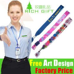 Дружественность к окружающей среде рекламных разноцветных Custom печать кистевой ремешок
