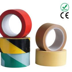 Hot sales Yellow-Black dépouillé Bande de marquage d'avertissement de plancher en PVC avec colle de caoutchouc