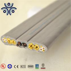 На заводе горячего продавать высококачественный кабель UTP CAT6 стальная проволока плоские 10мм2 крана элеватора поездки гибкие резиновые оболочки троса привода подъема электрического провода Tvvb 300/500V