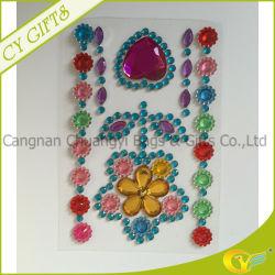 Flor Blingbling jóia de acrílico Crystal Sticker/folha auto-adesiva para mobiliário