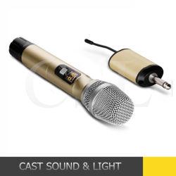 Bewegliches UHFdrahtloses Aktentaschencomputer-Mikrofon für Karaoke, Fernsehapparat, PC