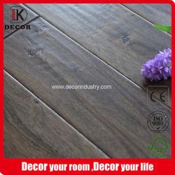 Corte rotativo Acacia piso parquet com superfície riscado a madeira maciça Engineered Flooring