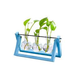 Лучшая цена цвета деревянной рамы стеклянный цветок завод изображение большего размера