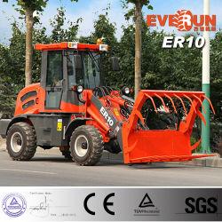 Pequeña cargadora de ruedas multifuncional tipo Er10 Carretilla Tracción 4X4