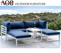 La moderna estructura de ocio al aire libre jardín de aluminio Sofá Muebles de Comedor
