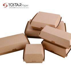 Одноразовые бумаги гофрированный картон Hot Dog упаковки продуктов питания в салоне, Hamburger обед в салоне