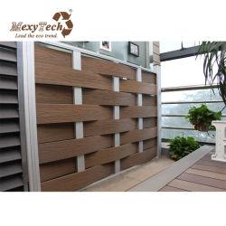 Foshan Mexytech tejido plástico WPC valla del jardín de aluminio con placa post
