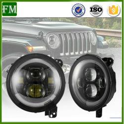 Feux à LED de 9 pouces haute/jour de l'exécution de la lampe de feux de croisement pour Jeep Wrangler Jl