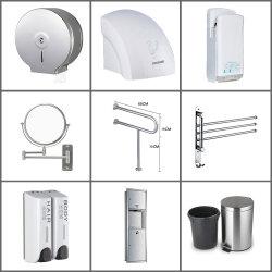Materiales de Construcción de acero inoxidable 304 Proyecto Hotelero del baño público fábrica de porcelana sanitaria de buena calidad y bajo precio