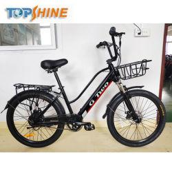 Новейшие 24-дюймовый 36V электрический велосипед/города Bike Бесщеточный двигатель с встроенной микросхемы GPS