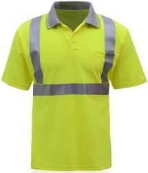 HI-Vis Reflector Security Tape Stripes Sewing Safety Polo Shirt Reflective