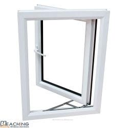 Conch UPVC temperado duplo perfil/PVC Casement Porta e janela
