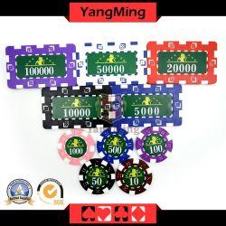 2016/Marco 작풍 알루미늄 부지깽이 칩셋 트럼프패 고정되는 760PCS 칩 상자 Ym-Fmgm001 주문 설계하십시오