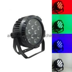 PAR La lumière LED Rainproof 12X12W RGBW 4en1 fer plat