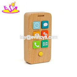 Haut de la vente de jouets en bois pour les enfants téléphone mobile pour l'éducation W01e001