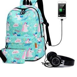 Водонепроницаемый и парикмахерский салон/полиэстер/студент/Отдых/Среднего и большого объема движения ЭБУ подушек безопасности рюкзак с помощью зарядного устройства USB