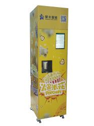 Imbiss-Popcorn-Verkaufäutomat im Kino mit Kartenleser-Münzen-Kostenzähler-Bargeld-Kasten