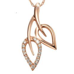 Mode Femmes Double Collier Pendentif Zircon Feuille de centaines de prendre des bijoux robe de fête d'accessoires