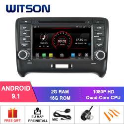 Auto DVD GPS des Witson Vierradantriebwagen-Kern Android-9.1 für Audi Tt 2006-2014 Spiegel-Link für androides Mobile+iPhone