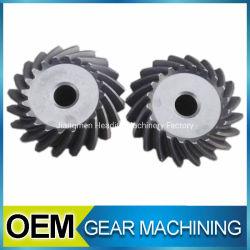 Mecanizado de la marcha de aleación de aluminio de OEM de acero inoxidable de plástico