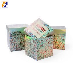 Form-Entwurfs-Druckpapier-Pappsteife Kappen-und niedriger Kasten-Weihnachtsgeburtstag-Hochzeits-kosmetischer Kleidungs-Schuh-Geschenk-Speicher-verpackenkasten-Set