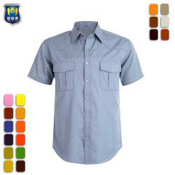 Fabriek Workwear Twee Knoop van het Werk van de Koker van de Zak de Korte op Overhemd