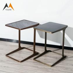 Fabrik kundenspezifischer Hauptdekor-moderner Edelstahl-Bett-Seiten-Tisch