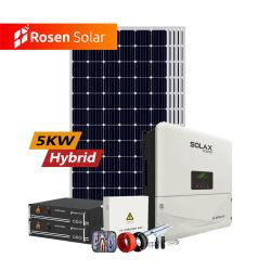 Rosen 5kw de potencia Solar Híbrido Precio del sistema