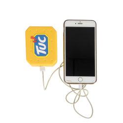 Silicone Logotipo personalizado Shape Cabo USB de alimentação do carregador da bateria do banco