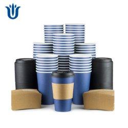 Одноразовые бумаги кофейные чашки с крышками и втулки