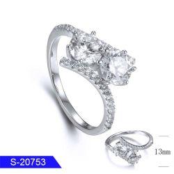 卸し売り新しいデザイン方法女性のための花嫁の宝石類の純銀製の立方ジルコニアの石のリング