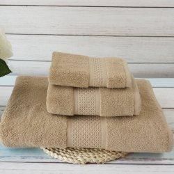 100% algodão presente de Natal Conjuntos de toalha de rosto de cor sólida lado Toalha de banho privada