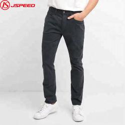 Großhandelsmänner nehmen passende dünne Hose-Baumwollschwarz-Denim-Hosen-Jeans für Mann ab