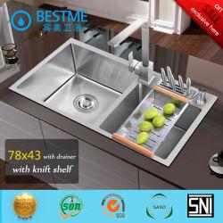 304 [ستينلسّ ستيل] يد - يجعل بالوعة لأنّ مطبخ أثاث لازم [بس-310]