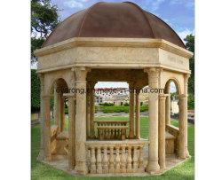 庭は屋外の装飾のための手によって切り分けられた大理石の石造りの望楼の塔/Gloriette/パビリオンを作った