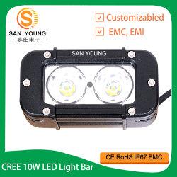 CREE 10W Offroad barre lumineuse à LED de 5 pouces de ligne simple 20 W Voiture Jeep 4X4 de la conduite hors route barre lumineuse à LED