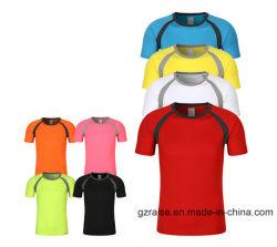 Maglietta atletica degli abiti sportivi di marchio su ordinazione asciutto di misura di Hotsale