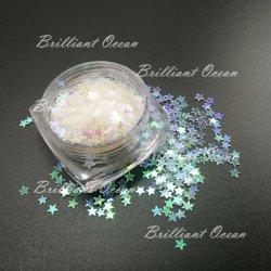 Opalescente Paillettes Paillettes Paillettes Star et formes de fleurs Nail Art paillettes