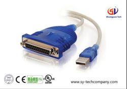 USB vers connecteur dB25 Câble adaptateur d'imprimante parallèle avec 6 pieds