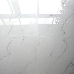 600x600 Effet de marbre blanc carreaux de sol poli de la porcelaine de cristal