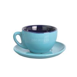 3 أونصة/ 100 مل لون حلوى قابل للتخصيص لون البورسلين القهوة/الشاي كوب مع صلصة - مجموعة فنجان قهوة السيدة