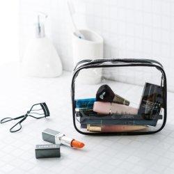 PVC/EVA 장식용 부대, 도매는 선전용 형식 투명한 플라스틱 방수 메이크업 세면용품 주머니 바닷가 지퍼 목욕 포장 손잡이 선물 부대를 주문을 받아서 만든다